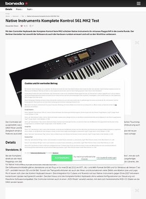 Bonedo.de Native Instruments Komplete Kontrol S61