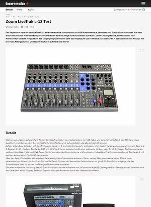Bonedo.de Zoom LiveTrak L-12