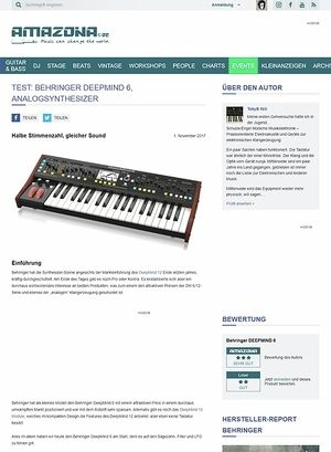 Amazona.de Behringer Deep Mind 6