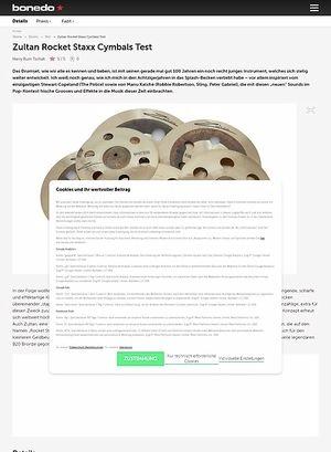 Bonedo.de Zultan Rocket Staxx Cymbals