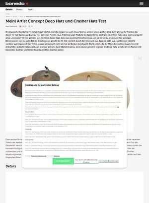 Bonedo.de Meinl Artist Concept Deep Hats und Crasher Hats