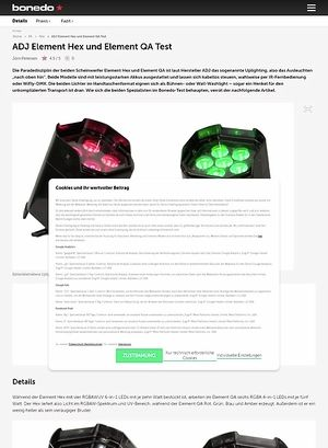 Bonedo.de ADJ Element Hex und Element QA