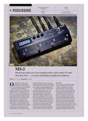 Guitarist Boss MS-3