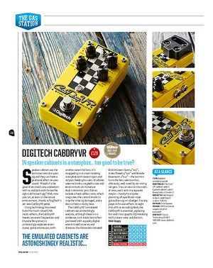 Total Guitar Digitech Cabdryvr