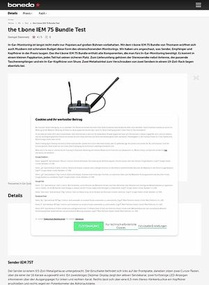 Bonedo.de the t.bone IEM 75 Bundle