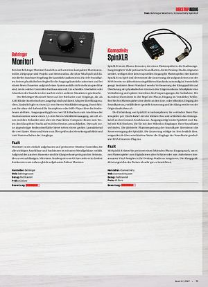 Beat Behringer Monitor 1, iConnectivity Spin XLR