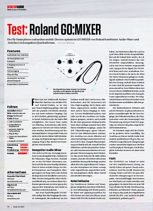 Beat Roland go:mixer, ESI MoCo