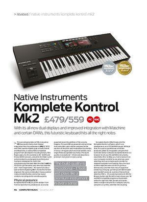 Computer Music Komplete Kontrol mk 2