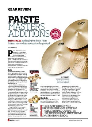 Rhythm Paiste Masters Additions