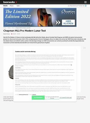 Bonedo.de Chapman ML1 Pro Modern Lunar