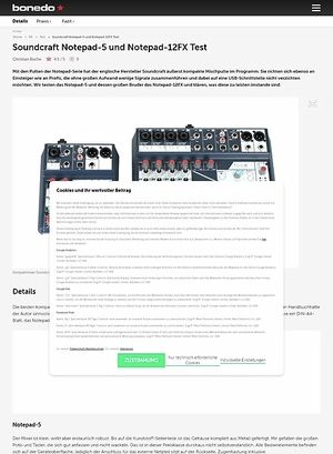 Bonedo.de Soundcraft Notepad-5 und Notepad-12FX