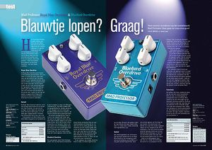 gitarist.nl Mad Professor Royal Blue Overdrive & Bluebird Overdrive