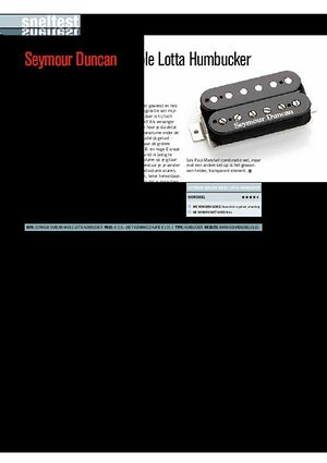 gitarist.nl Seymour Duncan Whole Lotta Humbucker