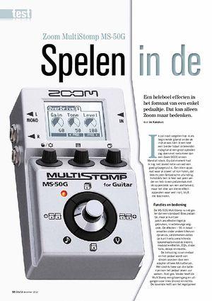 gitarist.nl Zoom MultiStomp MS-50G