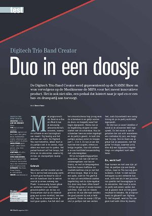 gitarist.nl Digitech Trio Band Creator