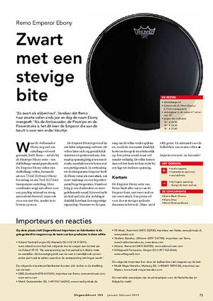 slagwerkkrant.nl Remo Ebony Emperor