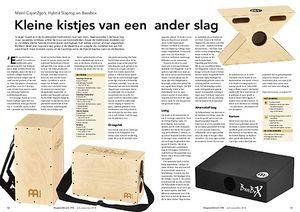 slagwerkkrant.nl Meinl Cajon2go's, Hybrid Slaptop en Bassbox