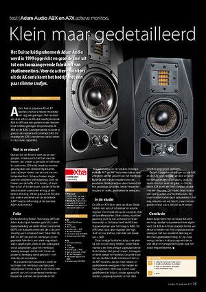 interface.nl Adam Audio A3X en A7X actieve monitors