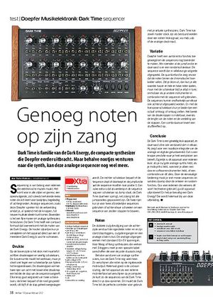 interface.nl Doepfer Musikelektronik Dark Time sequencer