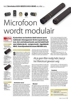 interface.nl Sennheiser MKH 8020 & MKH 8040 microfoons