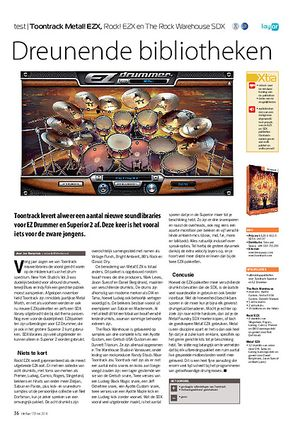 interface.nl Toontrack Metal! EZX, Rock! EZX en The Rock Warehouse SDX