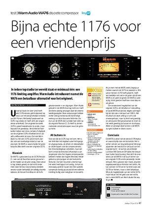 interface.nl Warm Audio WA76 discrete compressor