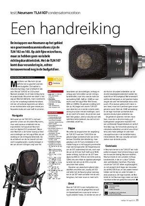 interface.nl Neumann TLM 107 condensatormicrofoon