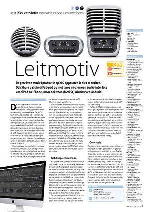 interface.nl Shure Motiv reeks microfoons en interfaces