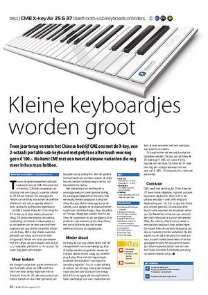 interface.nl CME X-key Air 25 & 37 bluethooth-usb keyboardcontrollers