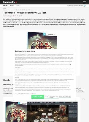 Bonedo.de Toontrack The Rock Foundry SDX