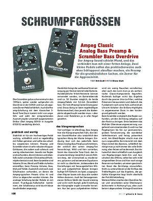 Gitarre & Bass Ampeg Classic Analog Bass Preamp & Scrambler Bass Overdrive