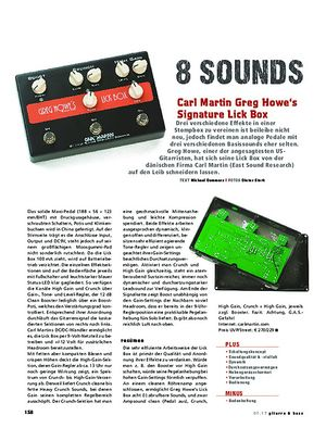 Gitarre & Bass Carl Martin Greg Howe's Signature Lick Box