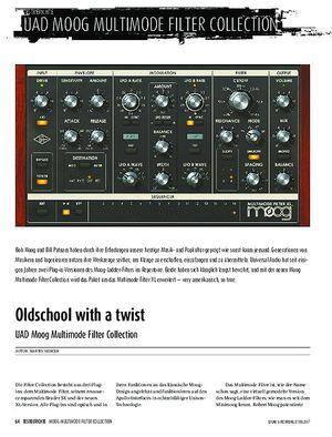 Sound & Recording UAD Moog Multimode Filter Collection