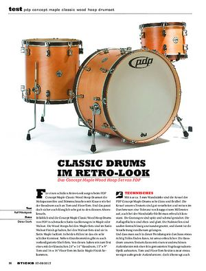 Sticks PDP Concept Maple Classic Wood Hoop Drumset