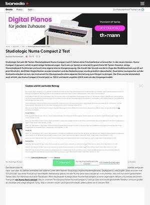 Bonedo.de Studiologic Numa Compact 2