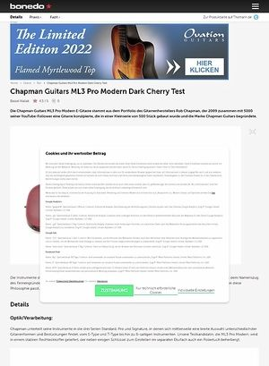 Bonedo.de Chapman Guitars ML3 Pro Modern Dark Cherry