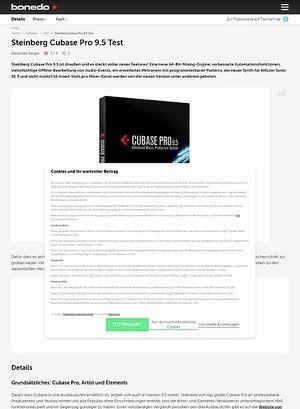 Bonedo.de Steinberg Cubase Pro 9.5