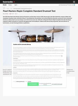 Bonedo.de Pearl Masters Maple Complete Standard Drumset