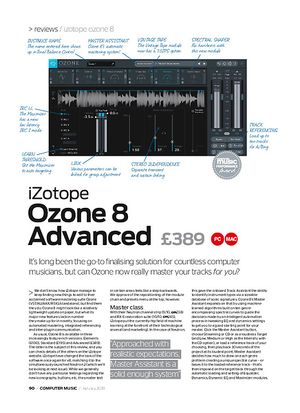 Computer Music iZotope ozone 8 Advanced