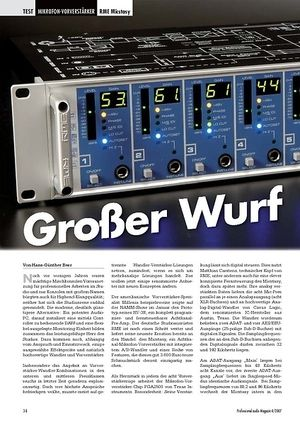 Professional Audio Großer Wurf