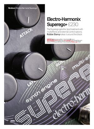 Future Music Electro-Harmonix Superego