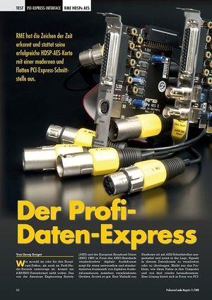 Professional Audio Der Profi-Daten-Express RME HDSPe AES