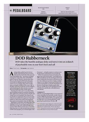 Guitarist DOD Rubberneck