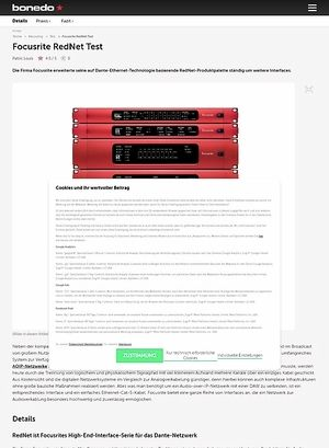 Bonedo.de Focusrite RedNet