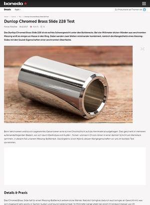 Bonedo.de Dunlop Chromed Brass Slide 228