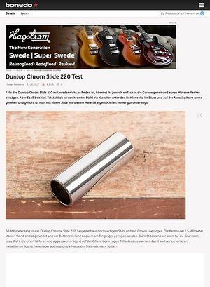 Bonedo.de Dunlop Chrom Slide 220