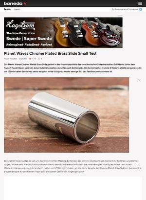 Bonedo.de Planet Waves Chrome Plated Brass Slide Small