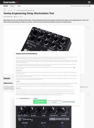 Bonedo.de Keeley Engineering Delay Workstation