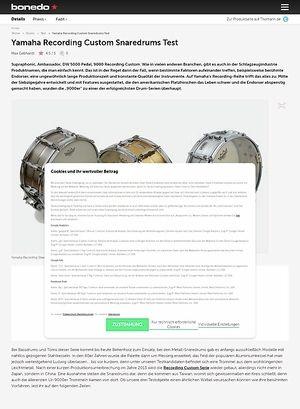 Bonedo.de Yamaha Recording Custom Snaredrums