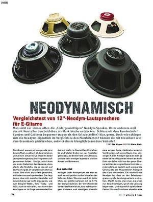 Gitarre & Bass Vergleichstest! 12 Zoll-Neodym-Lautsprecher für E-Gitarre